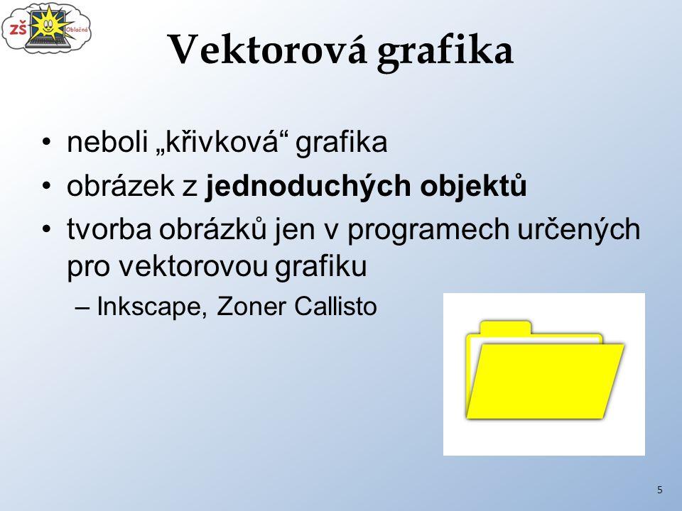 """Vektorová grafika neboli """"křivková grafika"""
