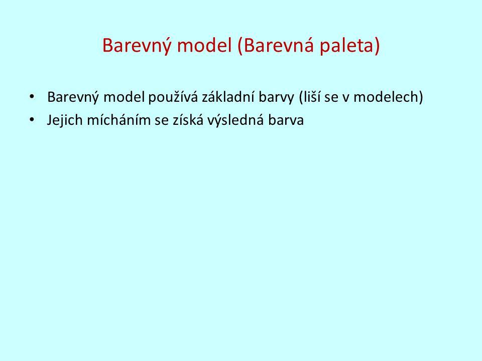 Barevný model (Barevná paleta)
