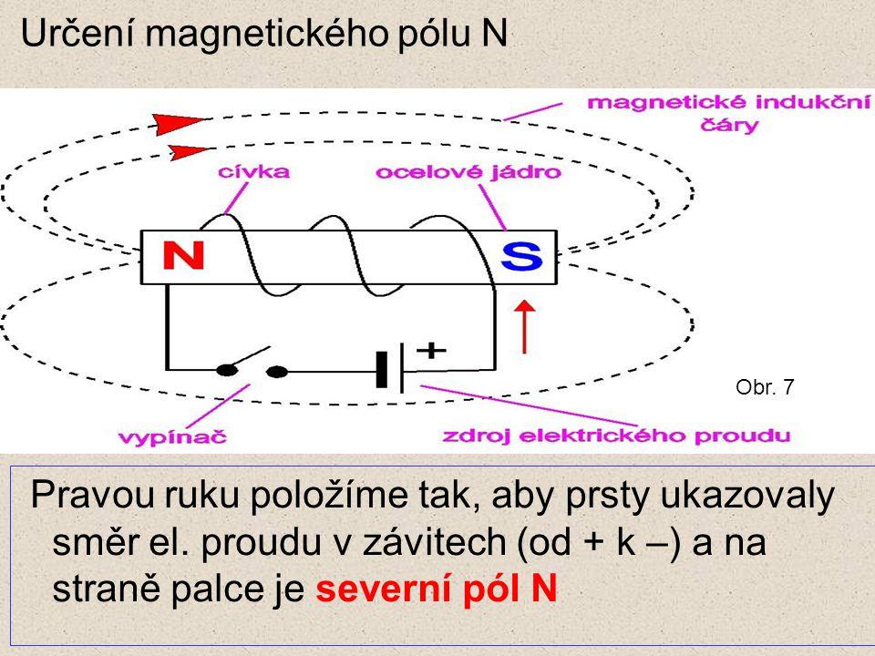 Určení magnetického pólu N