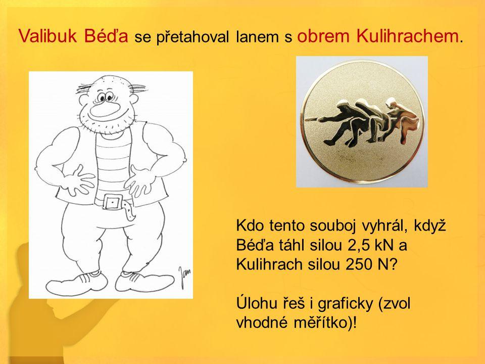 Valibuk Béďa se přetahoval lanem s obrem Kulihrachem.