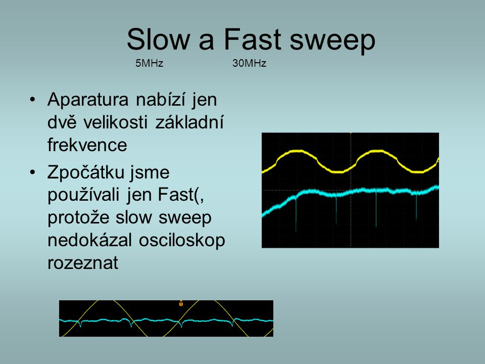 Slow a Fast sweep 5MHz 30MHz