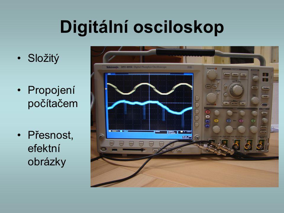 Digitální osciloskop Složitý Propojení počítačem