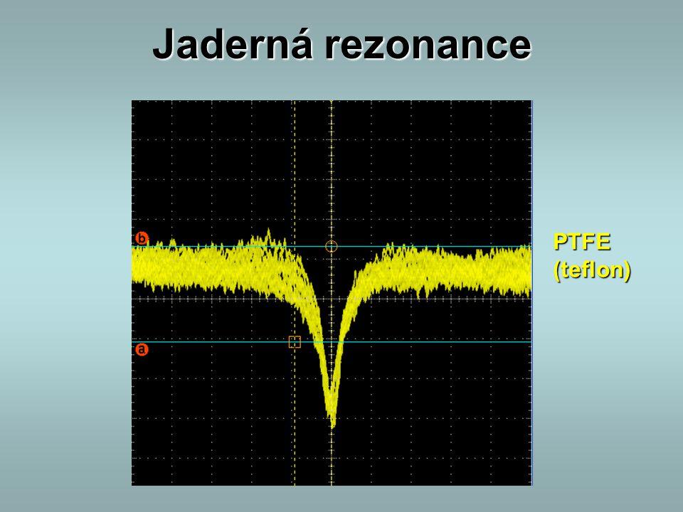 Jaderná rezonance PTFE (teflon)