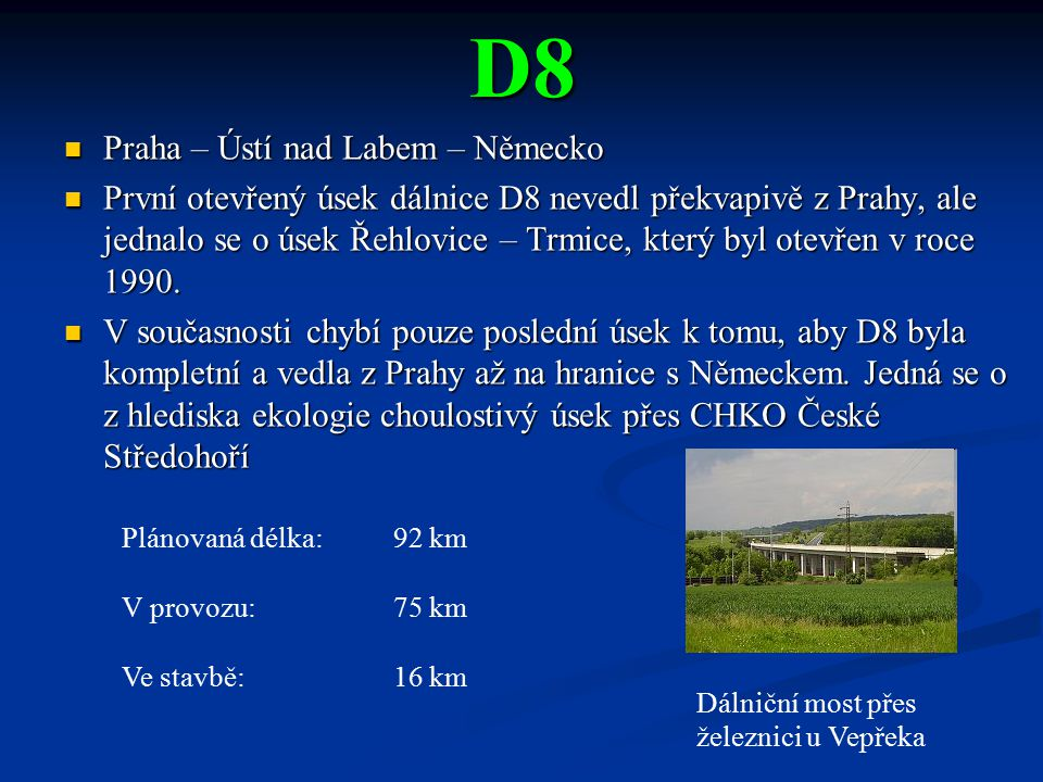 D8 Praha – Ústí nad Labem – Německo