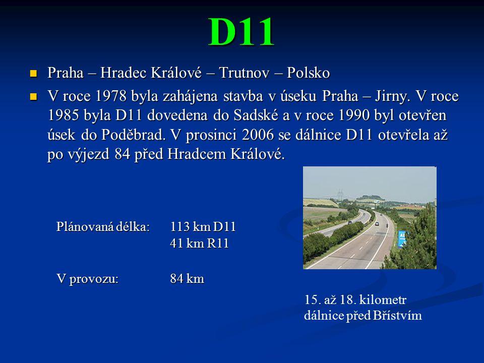 D11 Praha – Hradec Králové – Trutnov – Polsko