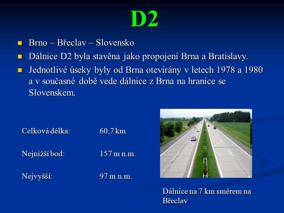 D2 Brno – Břeclav – Slovensko