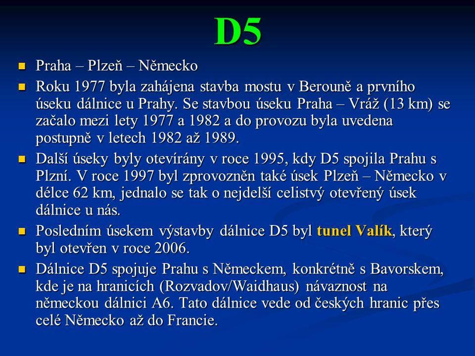 D5 Praha – Plzeň – Německo