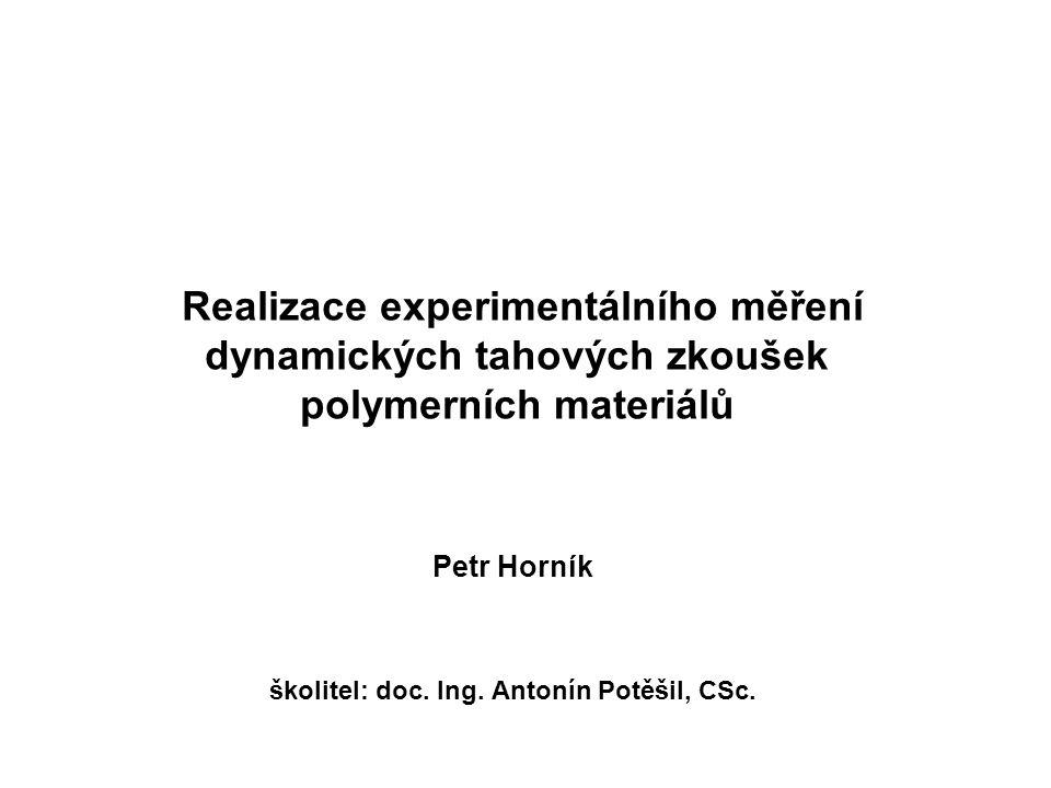 Petr Horník školitel: doc. Ing. Antonín Potěšil, CSc.