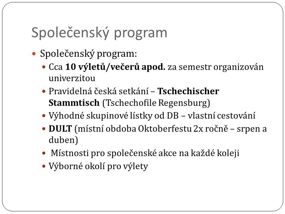 Společenský program Společenský program: