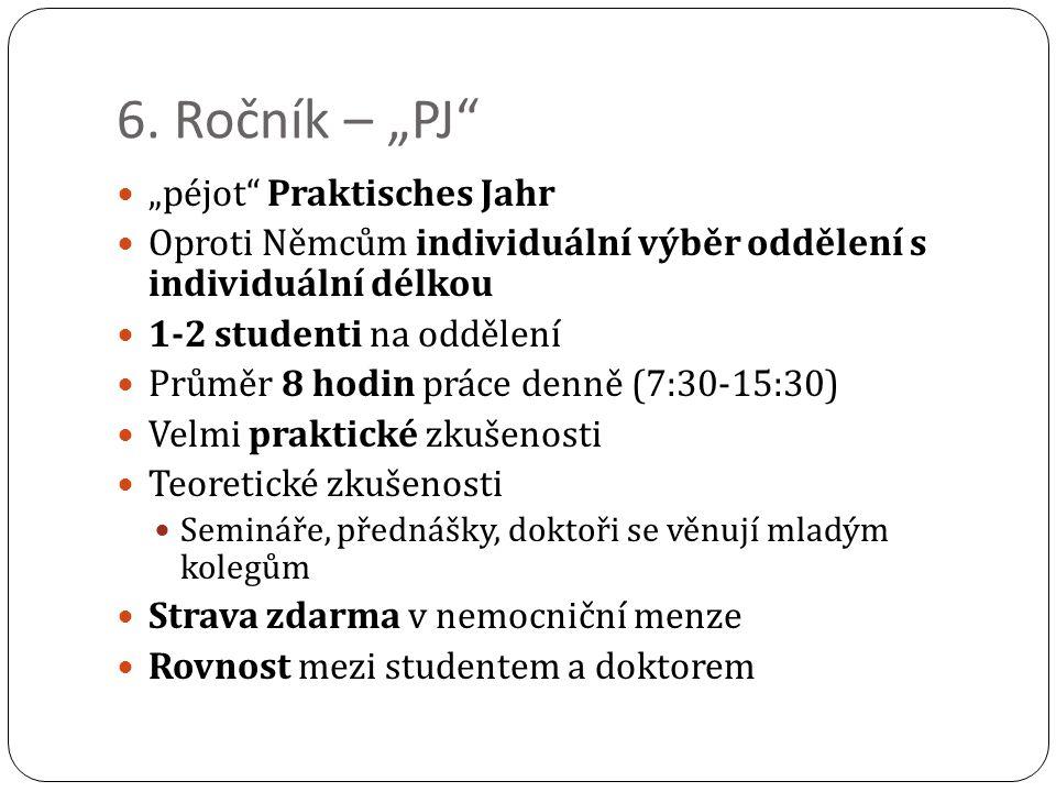 """6. Ročník – """"PJ """"péjot Praktisches Jahr"""