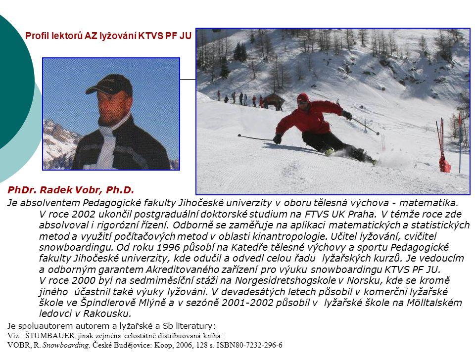 Profil lektorů AZ lyžování KTVS PF JU