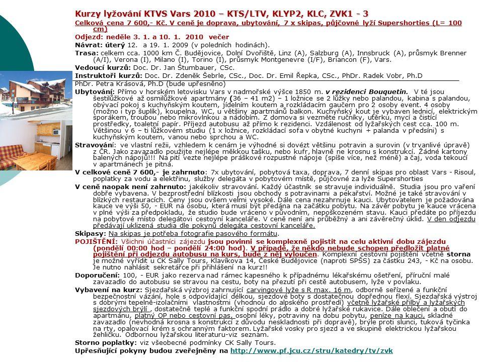 Kurzy lyžování KTVS Vars 2010 – KTS/LTV, KLYP2, KLC, ZVK1 - 3