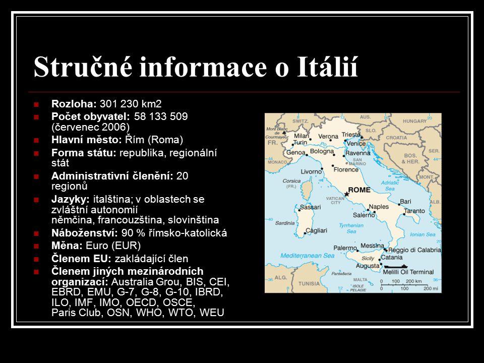 Stručné informace o Itálií