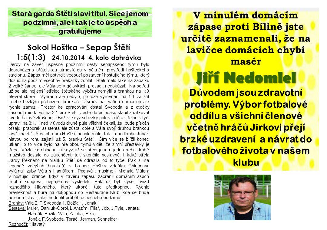 Sokol Hoštka – Sepap Štětí