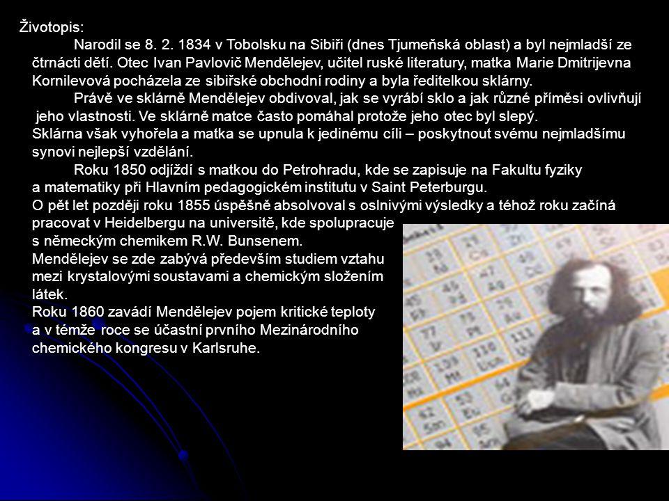 Životopis: Narodil se 8. 2. 1834 v Tobolsku na Sibiři (dnes Tjumeňská oblast) a byl nejmladší ze.