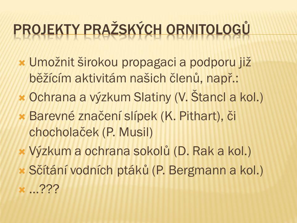 Projekty pražských ornitologů