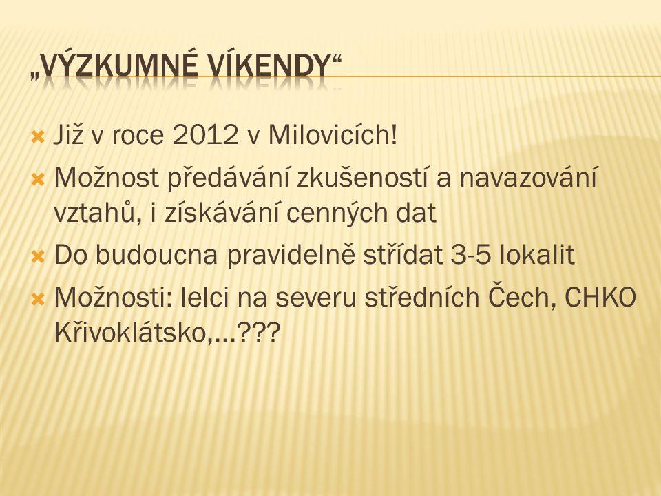 """""""Výzkumné víkendy Již v roce 2012 v Milovicích!"""