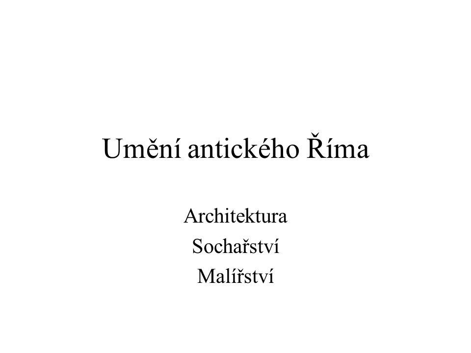 Architektura Sochařství Malířství