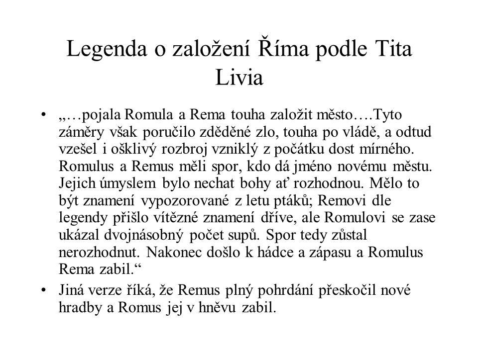 Legenda o založení Říma podle Tita Livia