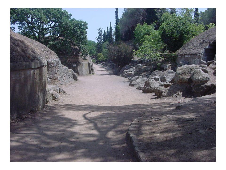 Caere- hrobky bohatých