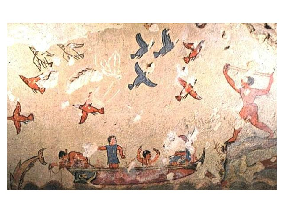 Freska z pohřební komory: lov a rybolov