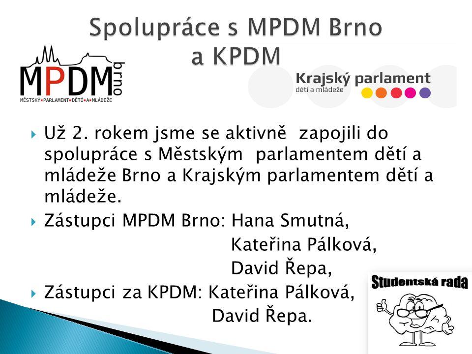 Spolupráce s MPDM Brno a KPDM