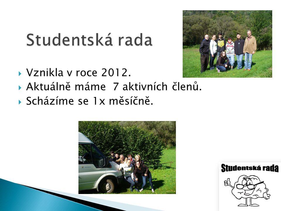 Studentská rada Vznikla v roce 2012. Aktuálně máme 7 aktivních členů.