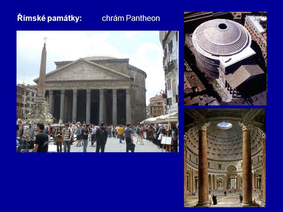Římské památky: chrám Pantheon
