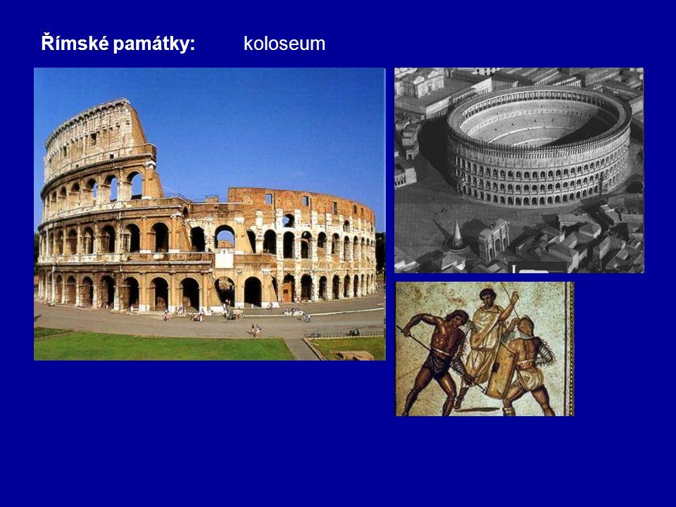 Římské památky: koloseum