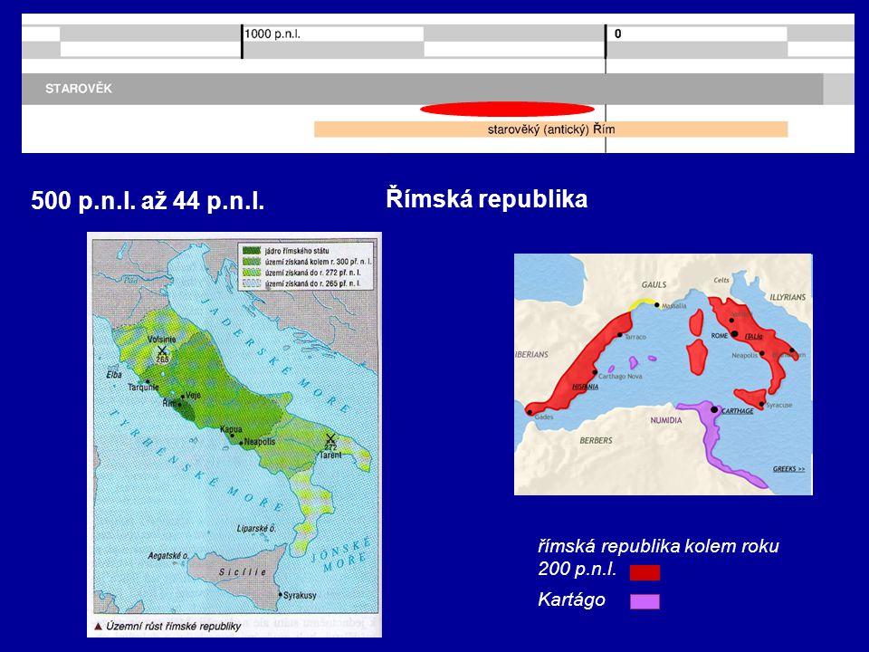 500 p.n.l. až 44 p.n.l. Římská republika