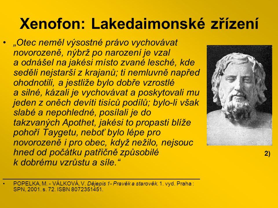 Xenofon: Lakedaimonské zřízení