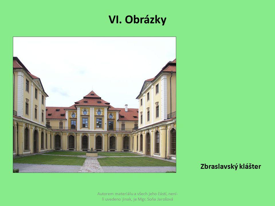 VI. Obrázky Zbraslavský klášter