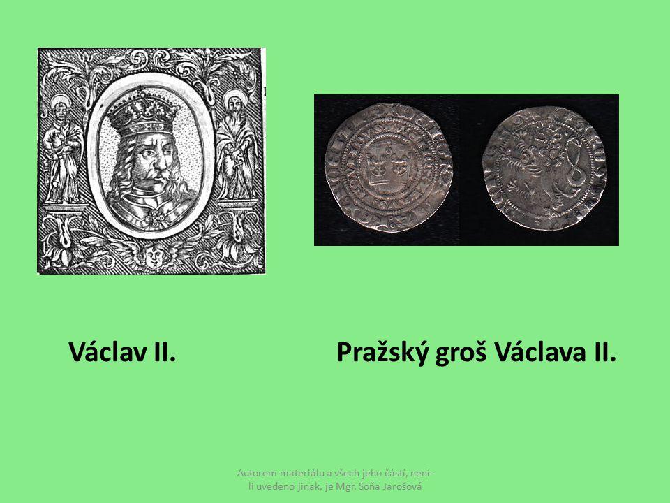 Václav II. Pražský groš Václava II.