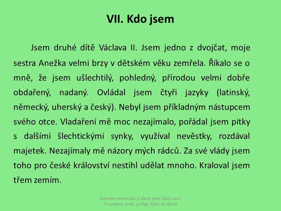 VII. Kdo jsem