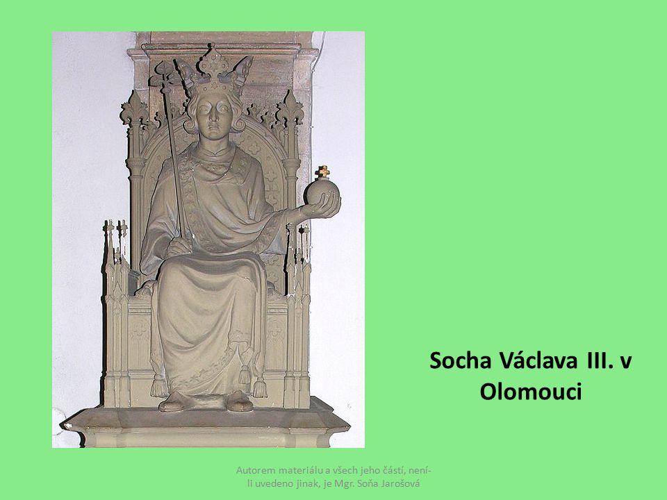 Socha Václava III. v Olomouci