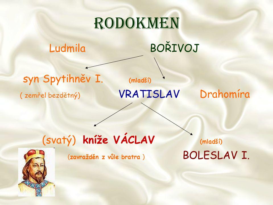 Rodokmen Ludmila BOŘIVOJ syn Spytihněv I. (mladší)
