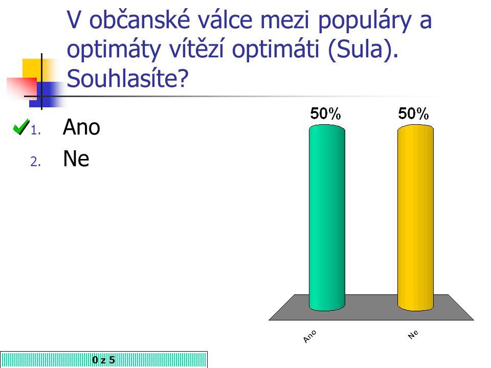 V občanské válce mezi populáry a optimáty vítězí optimáti (Sula)