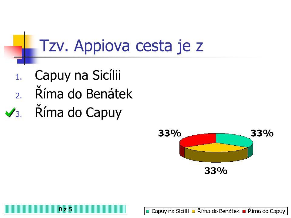 Tzv. Appiova cesta je z Capuy na Sicílii Říma do Benátek Říma do Capuy