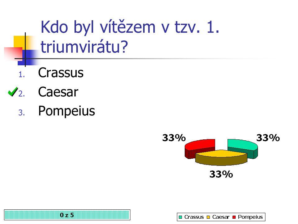 Kdo byl vítězem v tzv. 1. triumvirátu