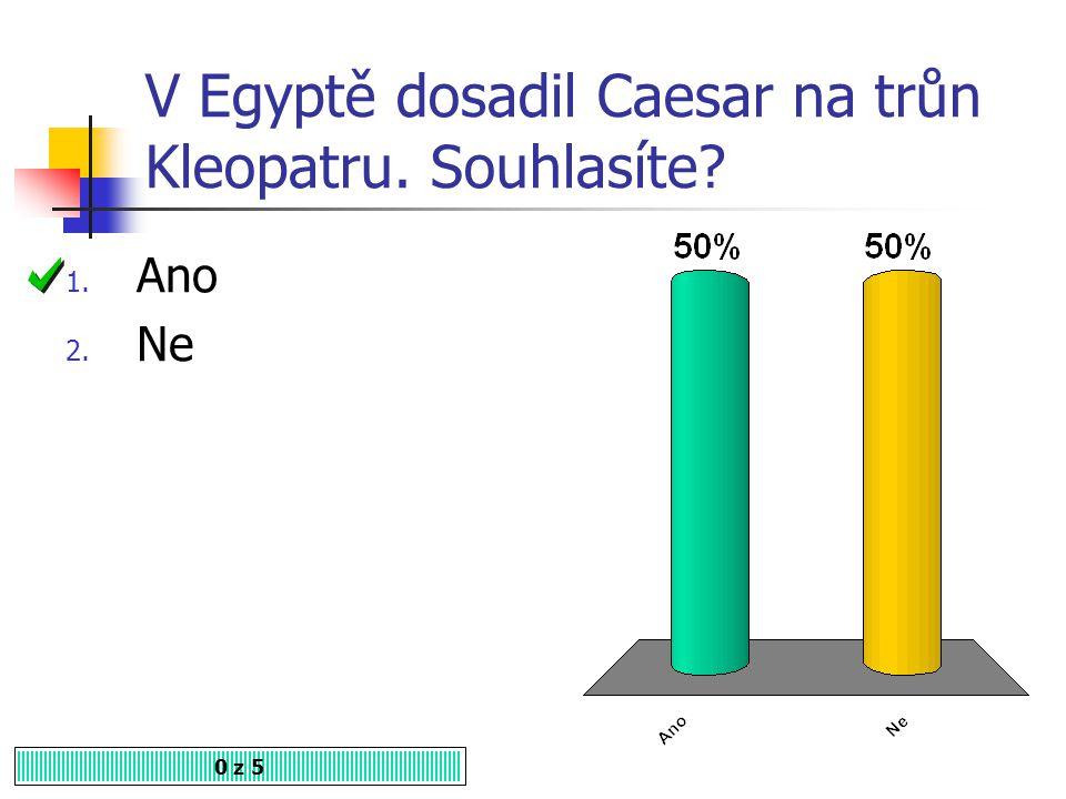 V Egyptě dosadil Caesar na trůn Kleopatru. Souhlasíte