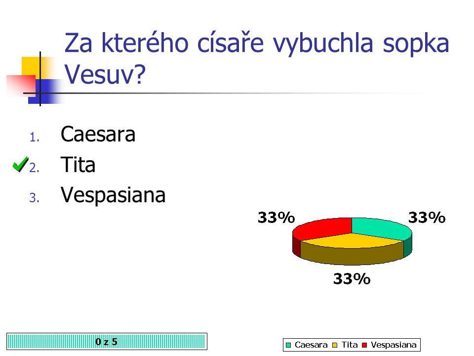Za kterého císaře vybuchla sopka Vesuv