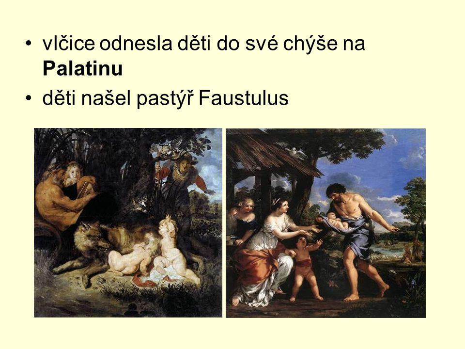 vlčice odnesla děti do své chýše na Palatinu