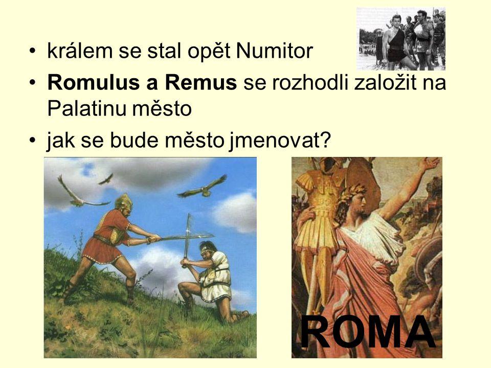 ROMA králem se stal opět Numitor