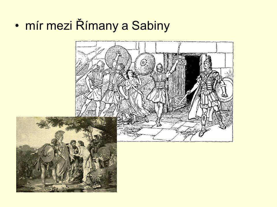 mír mezi Římany a Sabiny