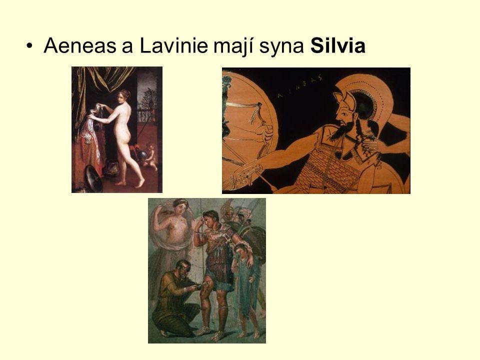 Aeneas a Lavinie mají syna Silvia
