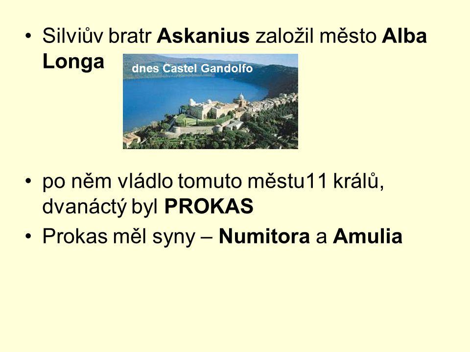 Silviův bratr Askanius založil město Alba Longa