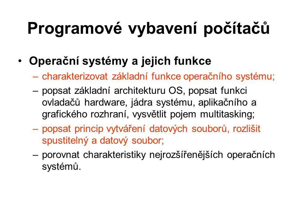 Programové vybavení počítačů