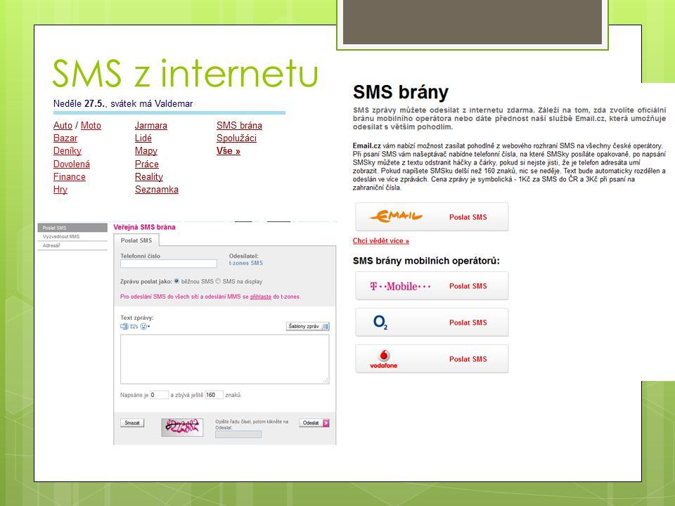 SMS z internetu