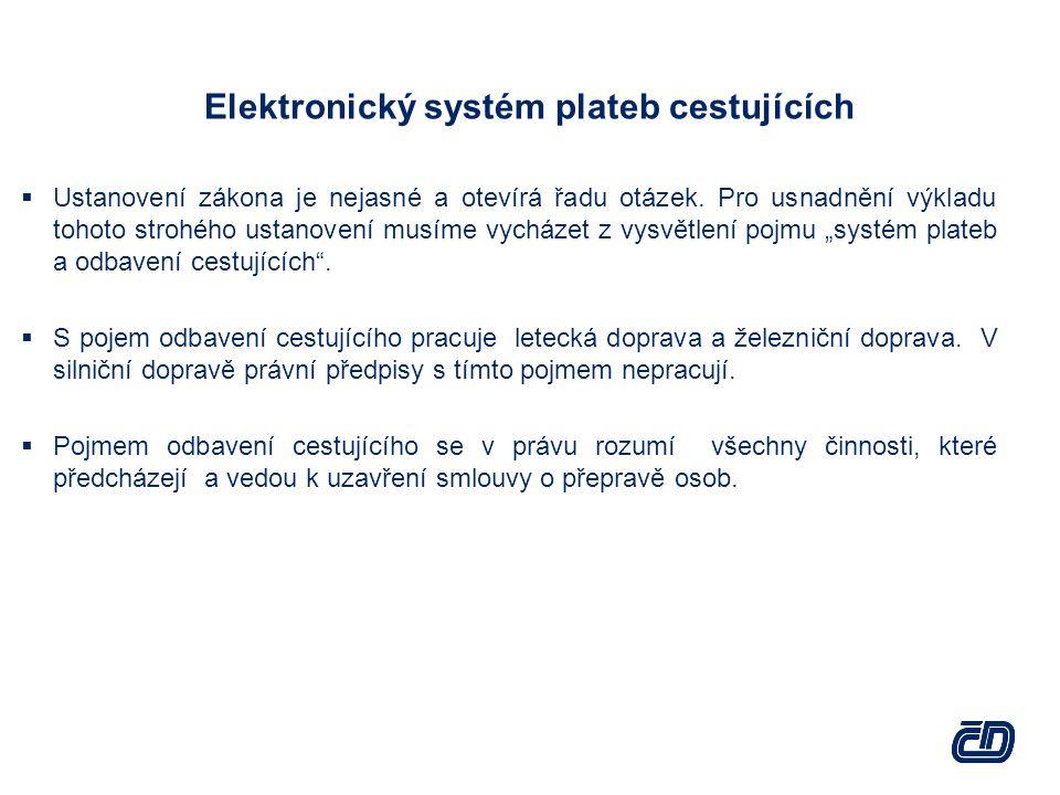 Elektronický systém plateb cestujících