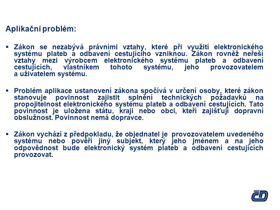 Aplikační problém: